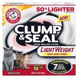 Clump & Seal Lightweight, 100% Dust Free, and Odor Sealing Cat Litter - 9lbs