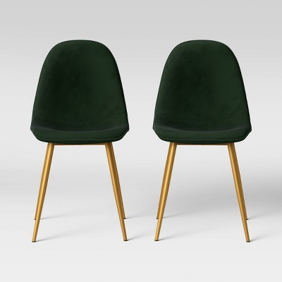 Copley Velvet Dining Chair with Brass Leg - Project 62™