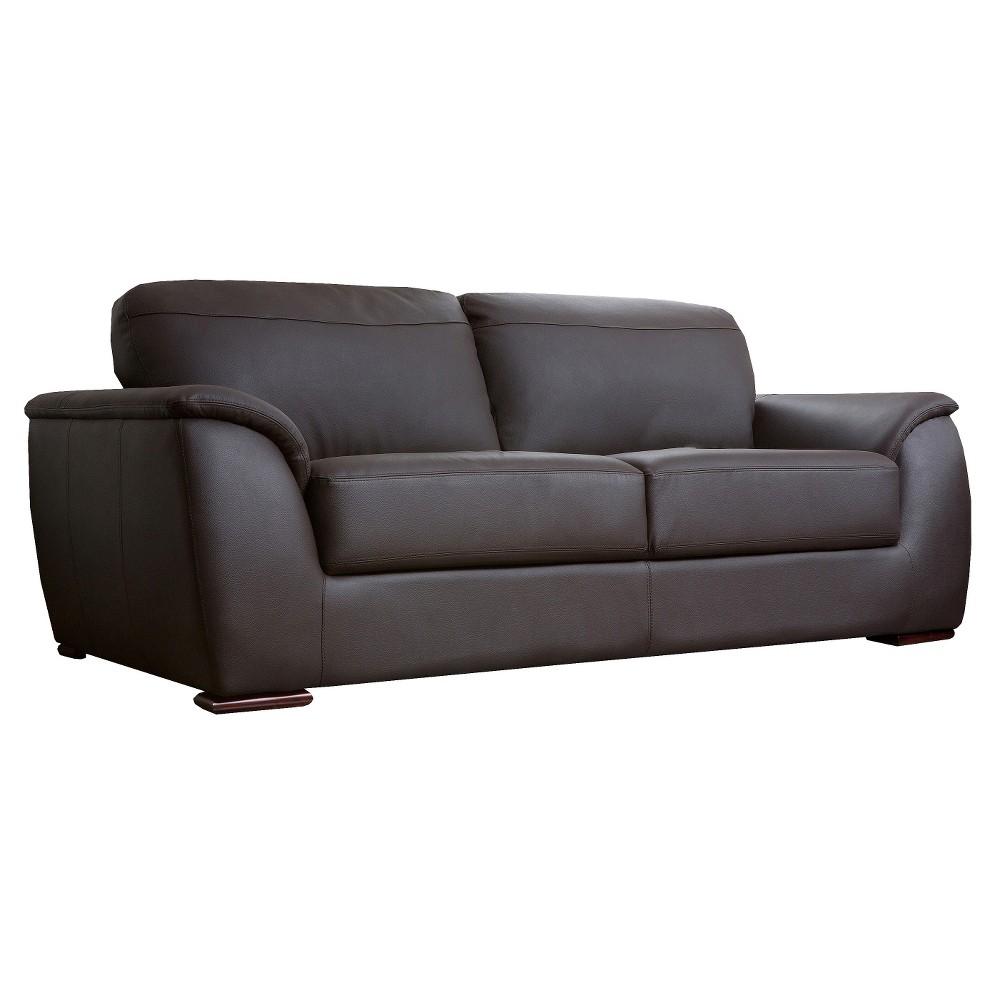 Stretford Leather Sofa - Abbyson Living, Brown