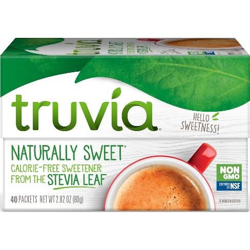 Truvia Calorie - Free Stevia Sweetener Packets - 2.82oz/40pk - image 1 of 4