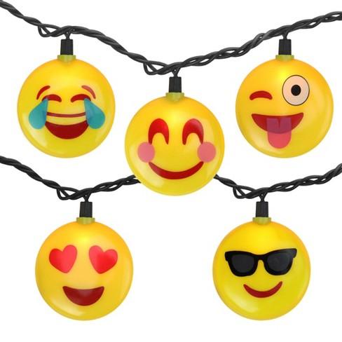 Northlight 10 Emoji Clear Summer Patio, Clear Patio String Lights