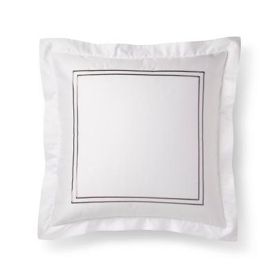 White/Cashmere Grey Hotel Sham (Euro)- Fieldcrest®