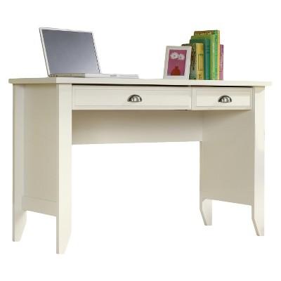 Shoal Creek Computer Desk with Slide Out Keyboard - Soft White - Sauder