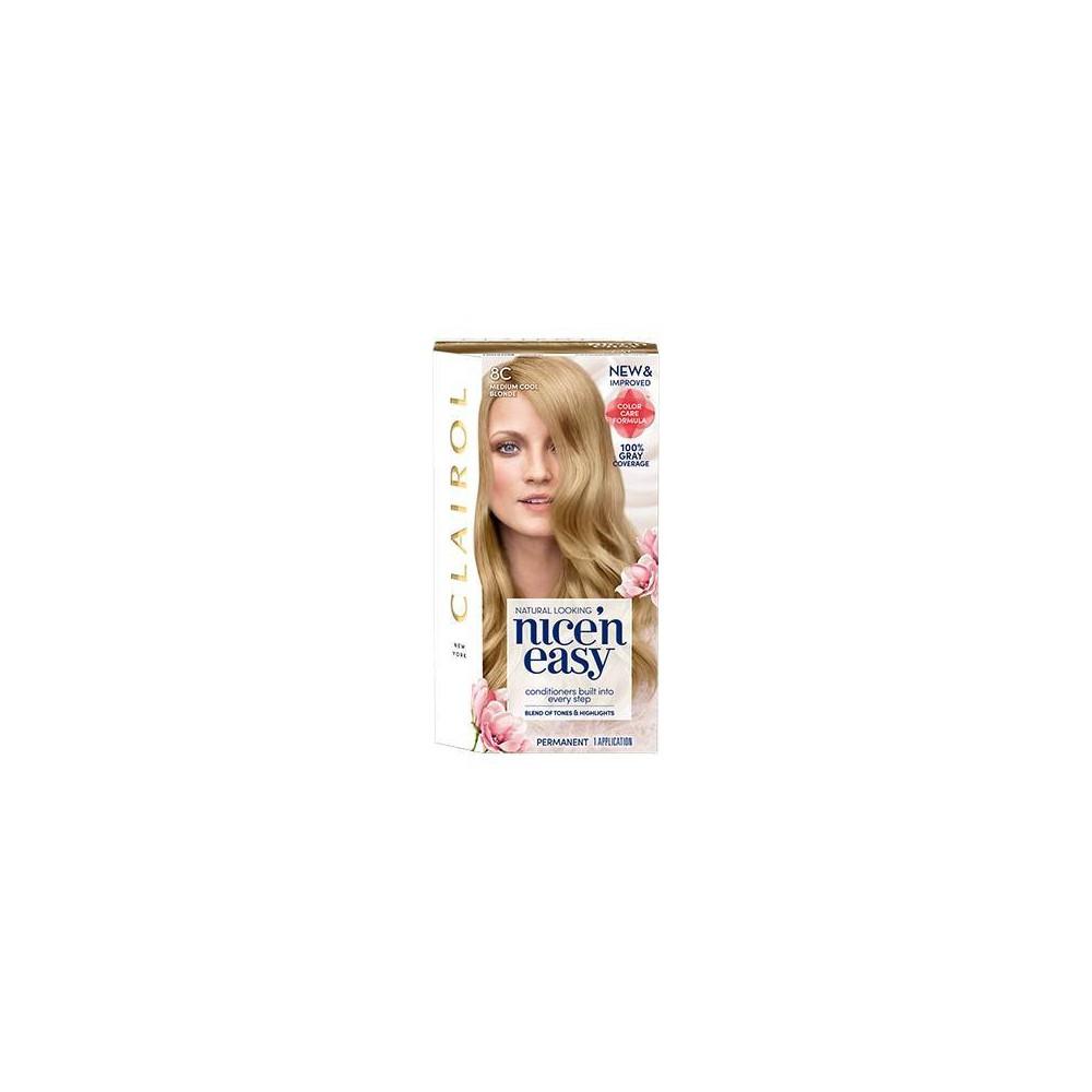 Image of Clairol Nice'n Easy Permanent Hair Color - 8C Medium Cool Blonde