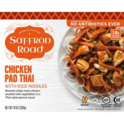 Saffron Road Frozen Chicken Pad Thai with Rice Noodles - 10oz