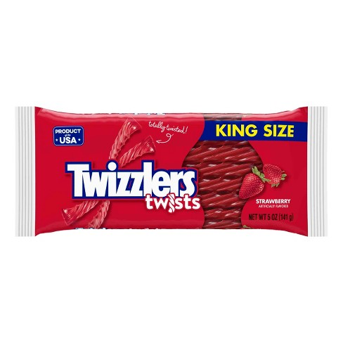 Twizzlers Twists King Size Strawberry Licorice Candy - 5oz - image 1 of 3