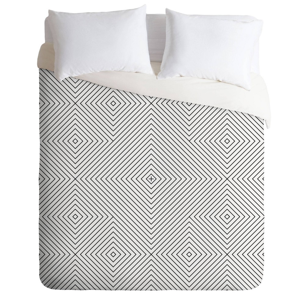 Best Twin/Twin XL Fimbis Kernoga Lines Duvet Set  - Deny Designs