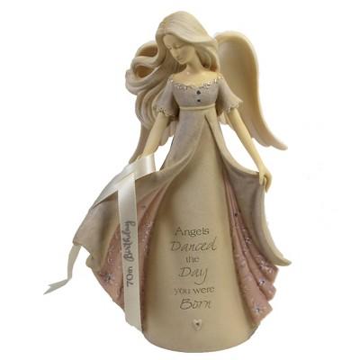 "Foundations 7.5"" 70Th Birthday Angel Danced Day Born  -  Decorative Figurines"