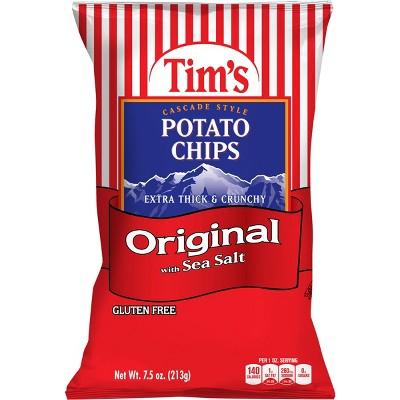 Tim's Original with Sea Salt Extra Thick & Crunchy Potato Chips - 7.5oz