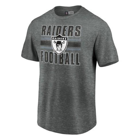 buy popular f0d72 32ba6 NFL Oakland Raiders Men's Faded Wordmark Gray Soft Touch T-Shirt