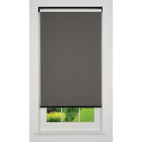 Linen Avenue Cordless Blackout Roller Shade, Dark Gray, Light Gray, and White - image 1 of 4
