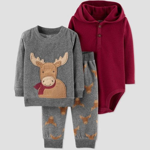 8bc2e6f5a6b2 Baby Boys  3pc Deer Set - Just One You® Made By Carter s Gray 18M ...