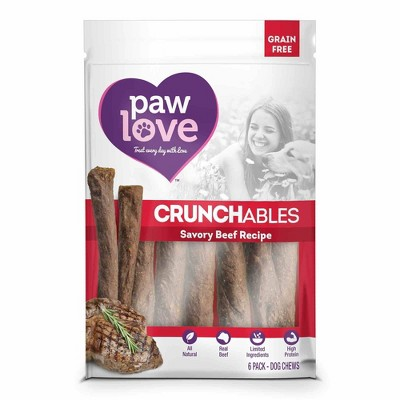 Paw Love Beef Crunchables Small Dog Treats
