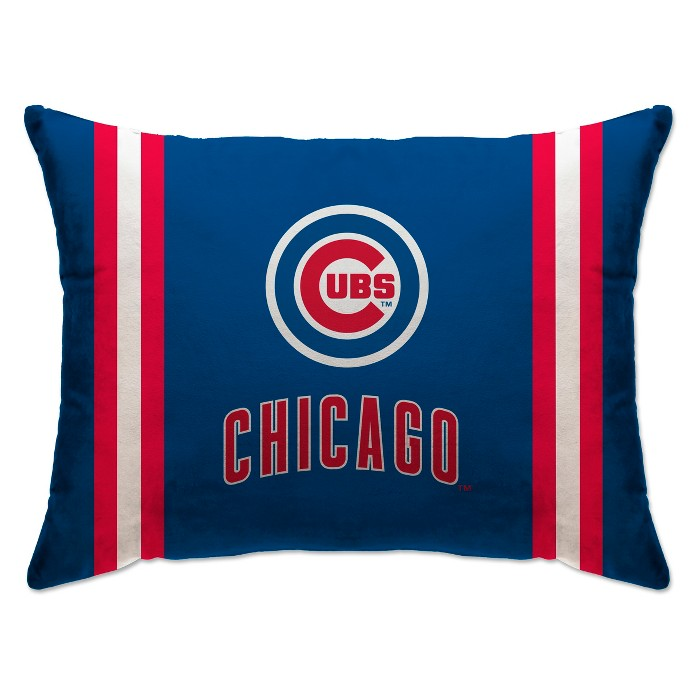 """MLB Chicago Cubs 20""""x26"""" Team Logo Microplush Bed Pillow - image 1 of 1"""