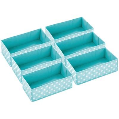 mDesign Fabric Child/Kids Dresser Drawer Organizer Storage, 6 Pack