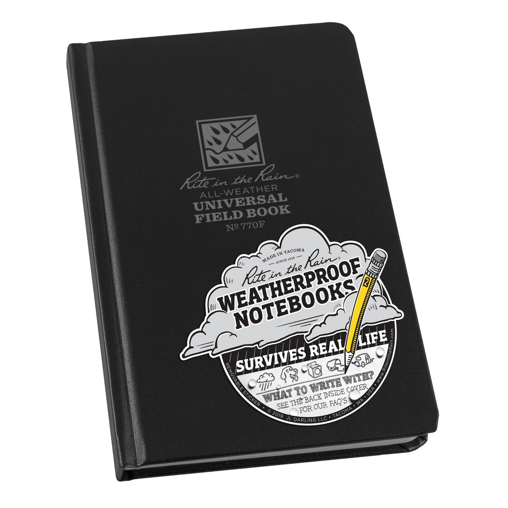 Image of All Weather Lined Journal Black - Rite in the Rain