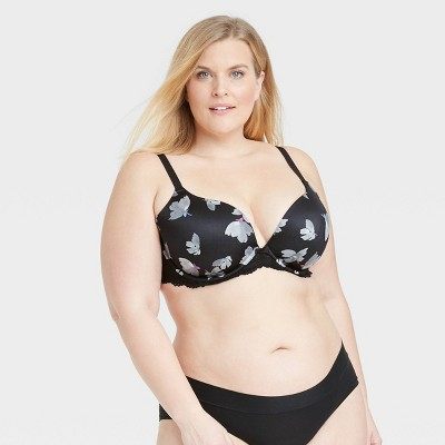 Women's Plus Size Smooth Lace Plunge Push Up Bra - Auden™