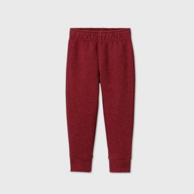 Toddler Boys' Fleece Bottom Pull-On Pants - Cat & Jack™ Red 5T
