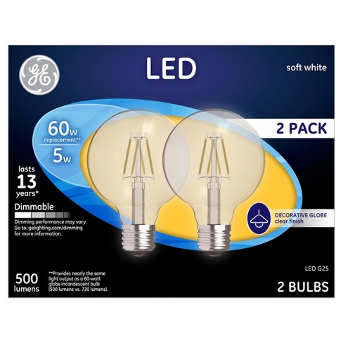 General Electric 2pk 60W LED Light Bulbs White - image 1 of 1
