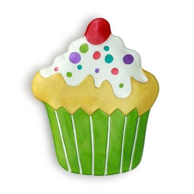 DEMDACO Cupcake Platter Green