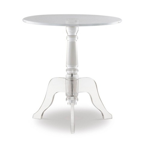 Clear Acrylic End Table Clear - Linon - image 1 of 4