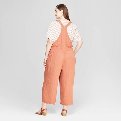 4bcc43cc8908 Women s Plus Size Sleeveless Button Detailed Jumpsuit - Universal Thread™  Orange