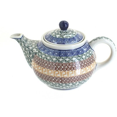 Blue Rose Polish Pottery Athena Small Teapot