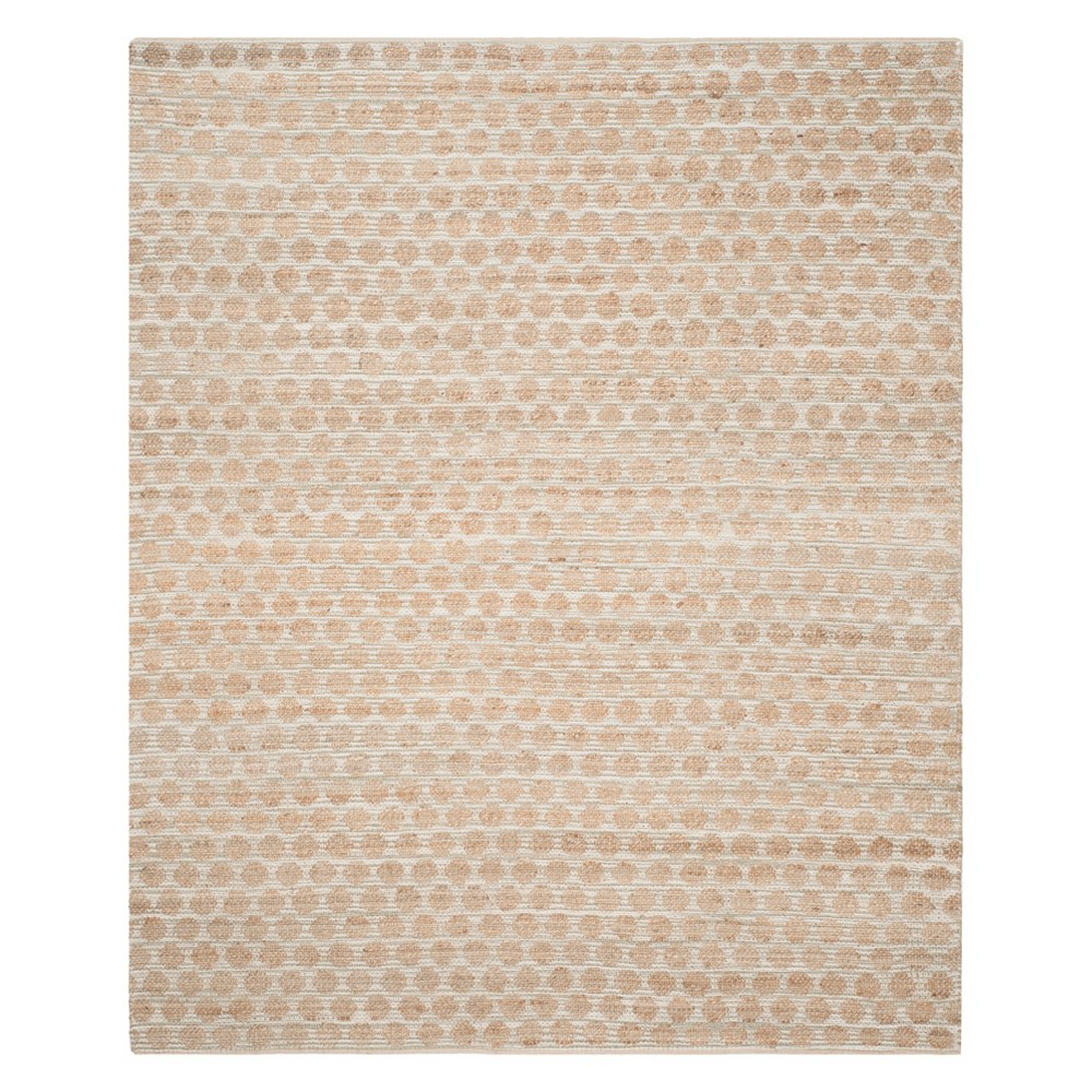 10'X14' Polka Dots Area Rug Gray/Natural - Safavieh