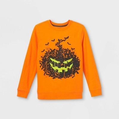 Boys' Spooky Pumpkin Graphic Long Sleeve T-Shirt - Cat & Jack™ Orange