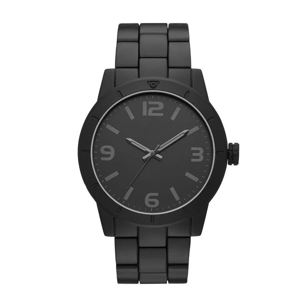 Image of Men's Matte Bracelet Watch - Goodfellow & Co Black, Size: Small