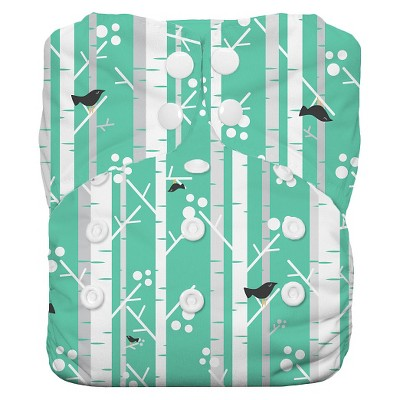 Thirsties All-in-One Snap Reusable Diaper, One Size - Aspen Grove