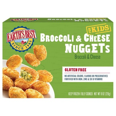 Earths Best Gluten Free Broccoli and Cheese Frozen Nuggets - 8oz