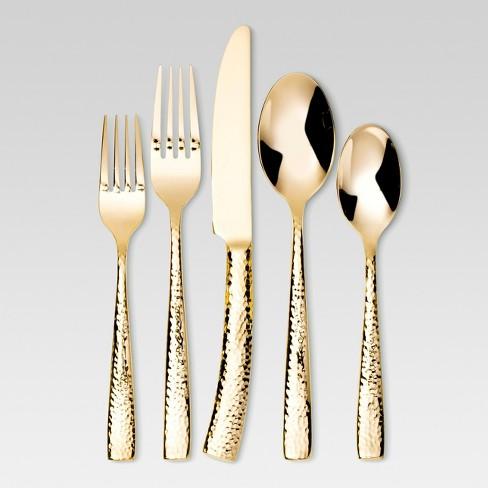 Arkita Silverware Set 5-pc. Stainless Steel Gold - Threshold™ - image 1 of 2