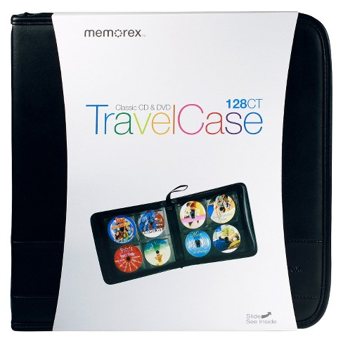 Memorex CD/DVD TravelCase Faux Leather Wallet 128ct - image 1 of 4