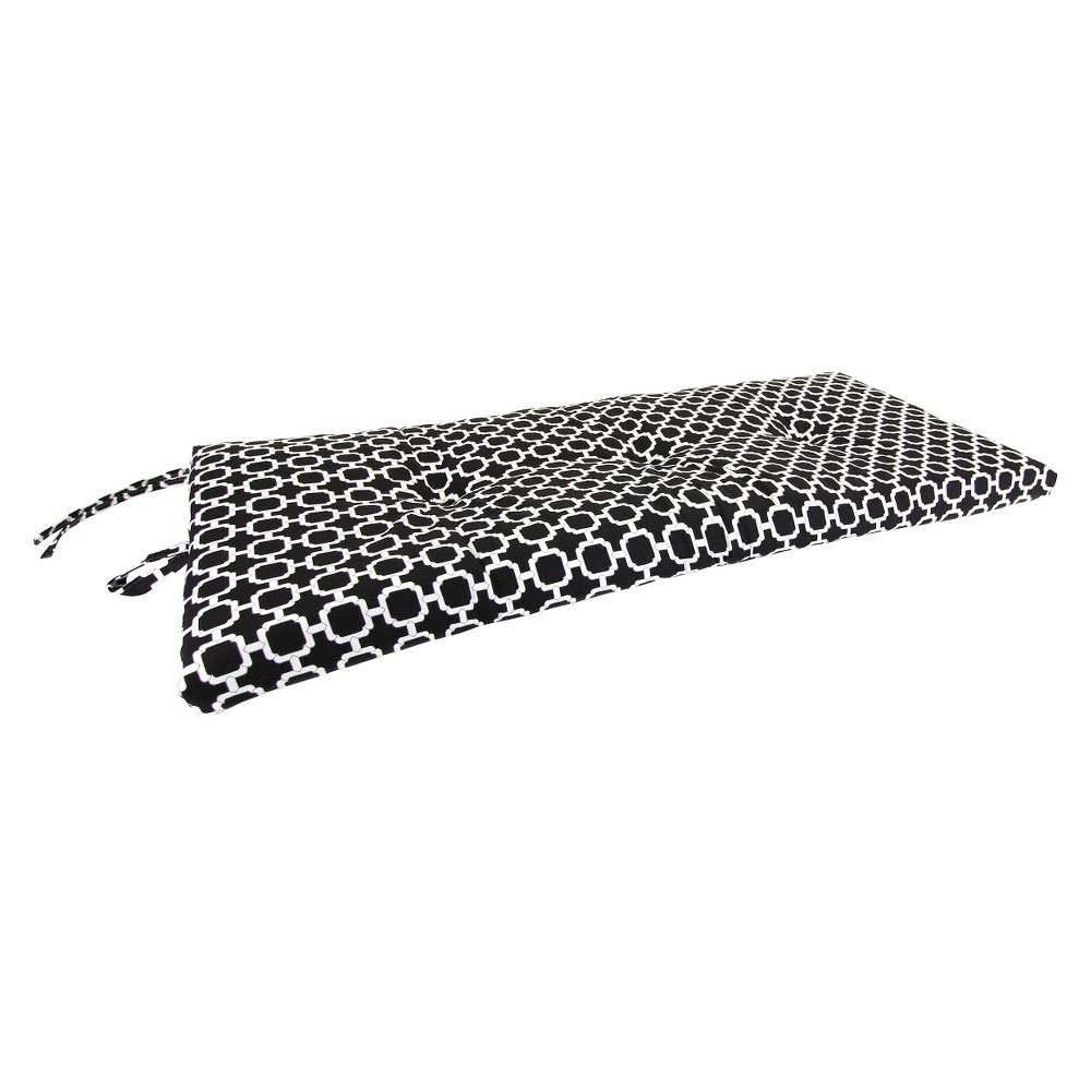 Outdoor Settee Bench Cushion - Black/White Geometric