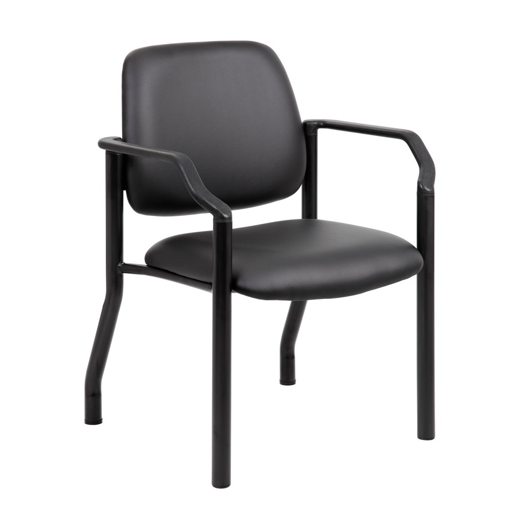 Image of 300lbs Guest Chair Antimicrobial Black - Boss Office Products