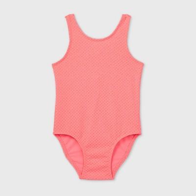 Toddler Girls' Textured Jacquard One Piece Swimsuit - Cat & Jack™ Pink