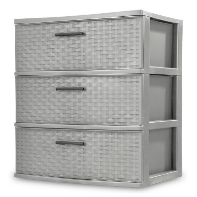 3 Drawer Wide Storage Tower Gray - Room Essentials™