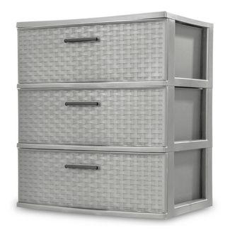 3 Drawer Wide Storage Tower Gray - Room Essentials™