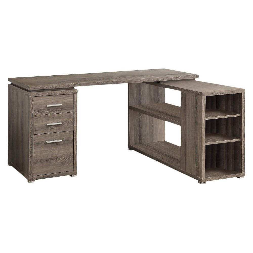 Hollow Core Left Or Right Facing Corner Desk - Dark Taupe - EveryRoom