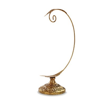DEMDACO Gold Leaves Ornament Stand 12 x 7 - Gold