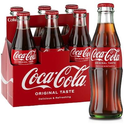 Coca-Cola Soda - 6pk/8 fl oz Glass Bottles