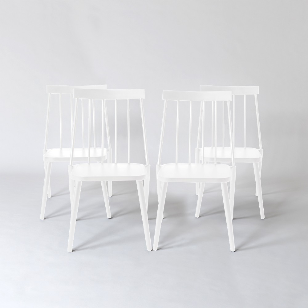 Windsor 4pk Patio Dining Chair - White - Project 62 was $300.0 now $150.0 (50.0% off)