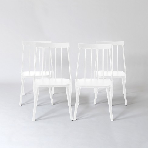 Windsor 4pk Patio Dining Chair White, White Patio Dining Chairs