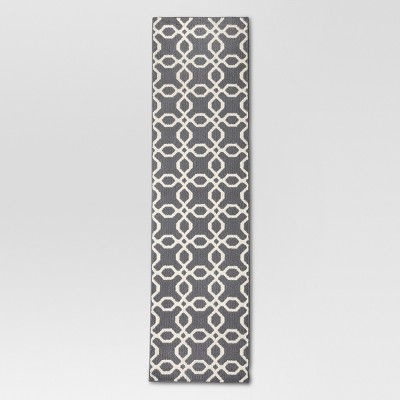 1'10 X7' Trellis Runner Gray - Threshold™