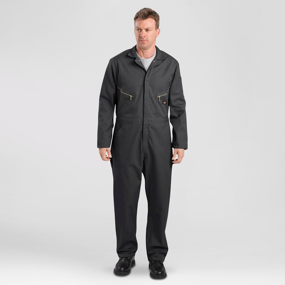 Dickies Men's Deluxe Long Sleeve Blended Twill Coverall- Black Xxl