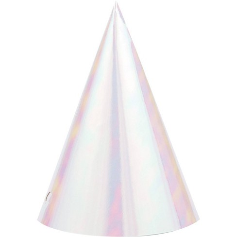 8ct Iridescent Party Hats - image 1 of 4