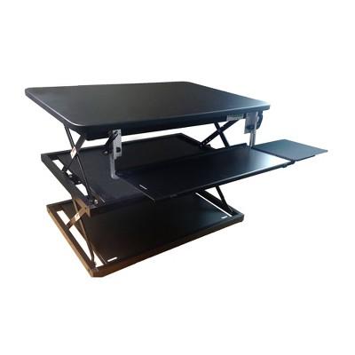 Tall Adjustable Standing Desk Riser Black - Uncaged Ergonomics