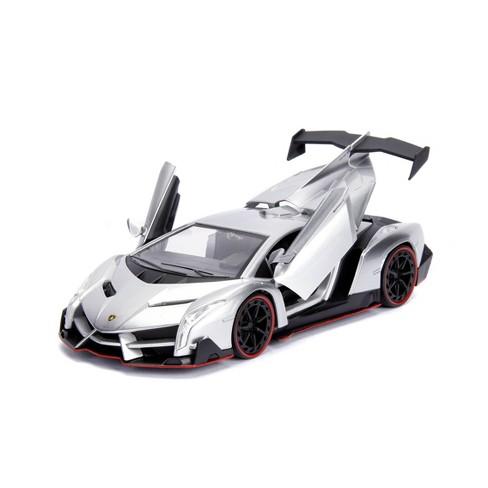 Jada Toys HyperSpec Lamborghini Veneno Die-Cast Vehicle 1:24 Scale Candy Silver - image 1 of 4