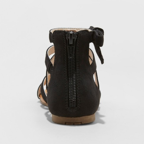 8fdebe6d01a6 Girls  Rayna Microsuede Gladiator Sandals - Cat   Jack™ Black. Shop all Cat    Jack